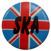 SKA - 'UK Flag' Button Badge